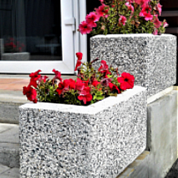 Купить уличные вазоны для цветов из бетона в новосибирске цена раствора цементного м100